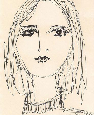 Ilustração feita com Nankim no meu sketchbook